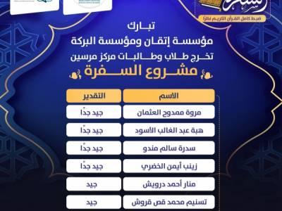 أسماء الناجحين في ختمة الضبط والاتقان نظراً من المصحف